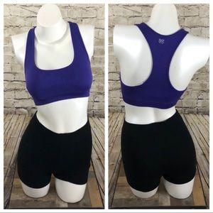 NWOT purple full coverage sports bra size small